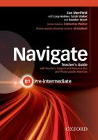Navigate : Pre-intermediate B1 : Teacher's Guide With Teacher's Support And Resource Disc And Photocopiable Material