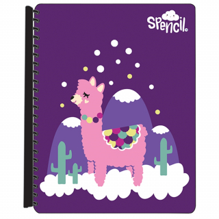 Image of Display Book Spencil A4 Refillable 20p Llama Love