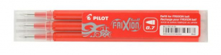 Image of Pen Refill Pilot Frixion 0.7mm 3 Pack Red
