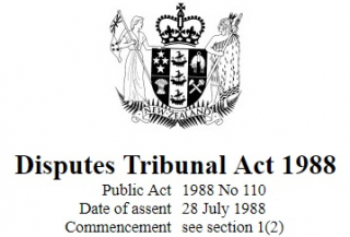 Disputes Tribunal Act 1988 Reprint As At 1 September 2017