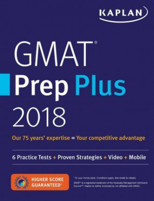 Image of Gmat Prep Plus 2018 : 6 Practice Tests + Proven Strategies +video + Mobile