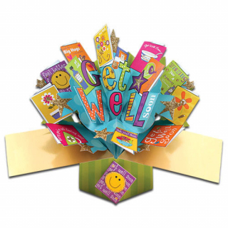 Image of Get Well Soon Pop Up Greeting Card