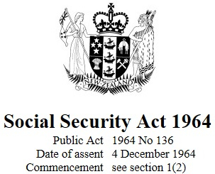 Image of Social Security Act 1964 : Reprint As At 14 July 2017