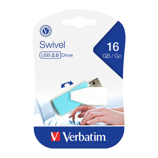 Image of Usb Verbatim Store'n'go Mini Swivel Blue 16gb