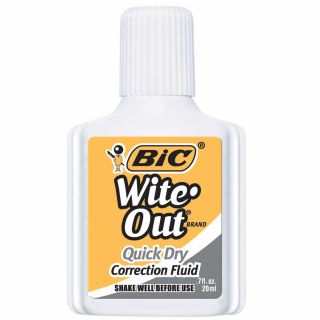 Image of Correction Fluid Bic White Out Quick Dry