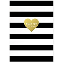 Image of Thank You Very Much Stripes Boxed Notecards 10 Piece