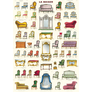 Image of Cavallini La Maison : Wrapping Paper