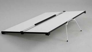 Image of Challenge Drawing Board A2 Carry Handle & Sliding Ruler Blundell And Harling