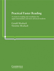 Image of Practical Faster Reading : A Course In Reading And Vocabulary
