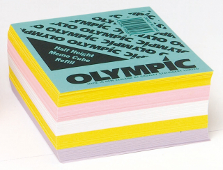 Image of Memo Cube Refill Olympic 97mm Half Height