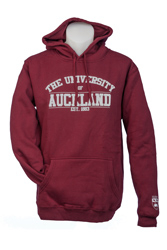 Auckland Varsity Maroon Hoodie With Grey Logo Large