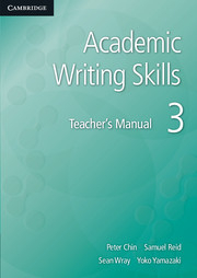 Image of Academic Writing Skills 3 : Teacher's Manual