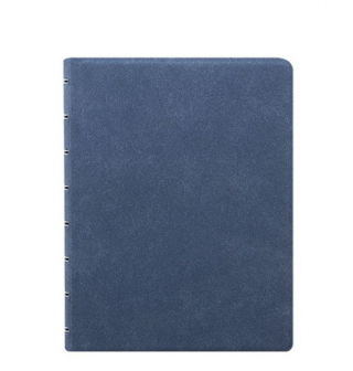 Image of Notebook Filofax Refillable A5 Blue Suede