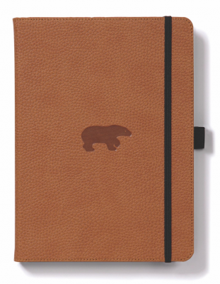 Journal Dingbats Wildlife A5 Lined Brown Bear