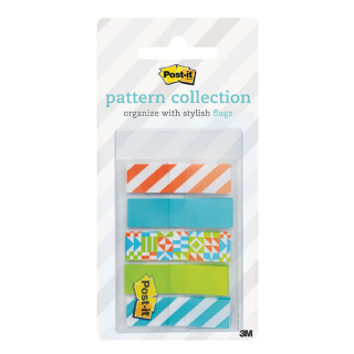 Image of Post It Flags Geos Pattern 12 X 43mm 100 Pack
