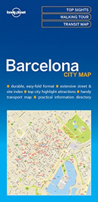 Image of Barcelona City Map : Lonely Planet