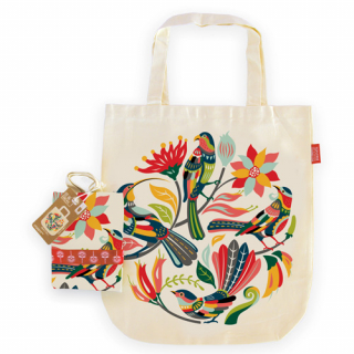 Image of Tote Bag : Colourful Birds
