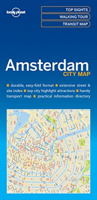 Image of Amsterdam City Map : Lonely Planet