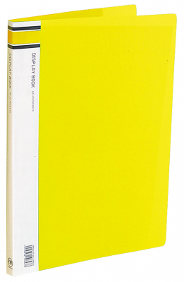 Image of Display Book 20p Fm A4 Yellow