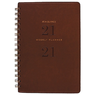 Image of Diary 2021 Acco At-A-Glance A5 Weekly Planner Brown