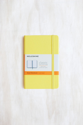 Image of Journal Moleskine Classic Hc Pocket Ruled Citron Yellow