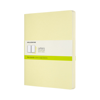 Image of Journal Moleskine Cahiers Sc Extra Large Plain Tender Yellowset Of 3