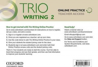 Image of Trio Writing 2 : Online Practice Teacher Access Card