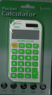 Image of Calculator Jastek Pocket Green