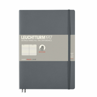 Image of Journal Leuchtturm 1917 Softcover B5 Lined Anthracite