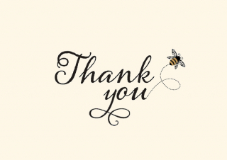 Image of Bumblebee Thank You Cards Boxed