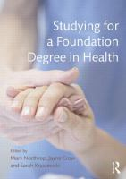 Image of Health And Social Care For Foundation Degree And Vocational Qualifications