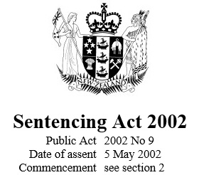 Image of Sentencing Act 2002 : Reprint As At 4 April 2016
