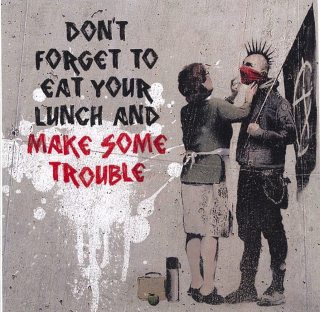 Banksy Anarchist And Mother : Greeting Card
