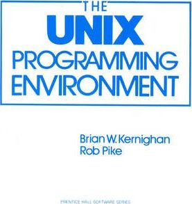 Image of The Unix Programming Environment