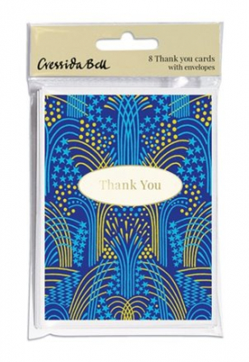 Image of Notecard Pack Fireworks Thank You 8 Pk