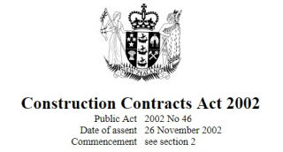 Image of Construction Contracts Act 2002 : Reprint As At 1 September 2017