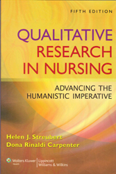 Image of Qualitative Research In Nursing Advancing The Humanistic Approach