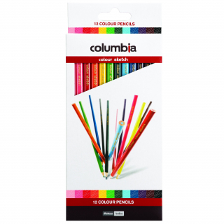 Image of Coloured Pencils Columbia Sketch 12 Pack