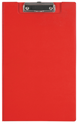 Image of Clipboard Fm Pvc With Flap Foolscap Red