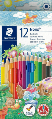 Image of Coloured Pencils Staedtler Noris Club 12 Pack