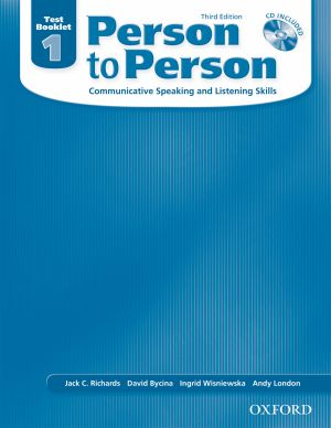 Image of Person To Person : Level 1 Test Booklet + Audio Cd