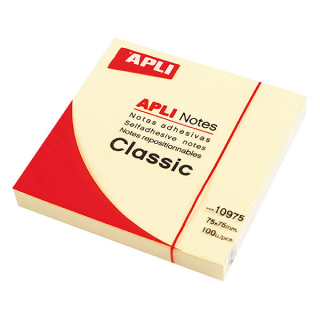 Image of Adhesive Notes Apli 75 X 75 Mm Lemon