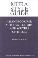 Image of Mhra Style Guide A Handbook For Authors Editors & Writers Oftheses
