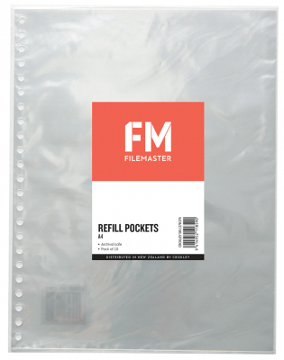 Image of Display Book Refill Pockets 10p A4 Fm
