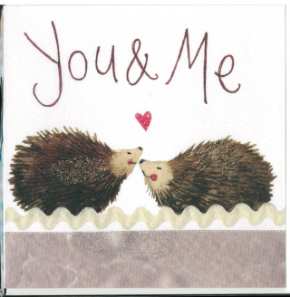Image of You And Me Hedgehogs : Greeting Card