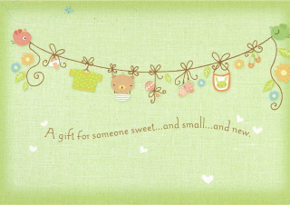 Image of A Gift For Someone Sweet And Small And New : Greeting Card