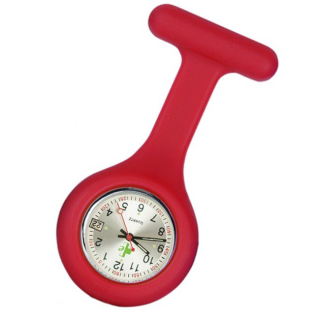 Image of Silicone Fob Watch Date Function : Red