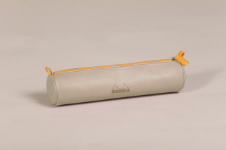 Image of Pencil Case Rhodiarama Round Beige