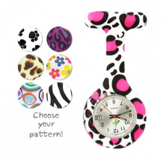Image of Nurses Watch Silicone Fob Leopard
