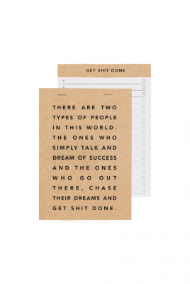 Image of Get Sh*t Done Notepad : Manifesto A5 Kraft And Black Foil